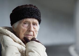 Österreich, Portrait einer älteren Frau, close up