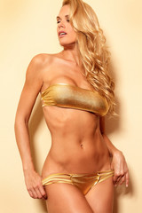 Sensual fitness bikini woman with perfect body