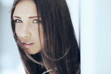 Close-up portrait of beautiful girl