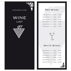 Carta della lista dei vini