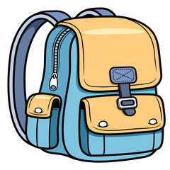 Vector illustration of school bag - Back to school
