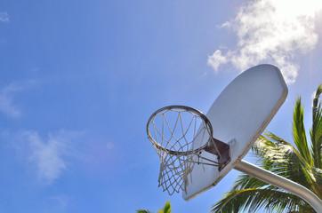 バスケットゴール 青空