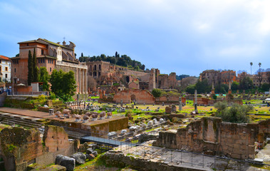 Archaeological excavations in Rome