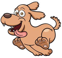 Vector illustration of Cartoon Dog running