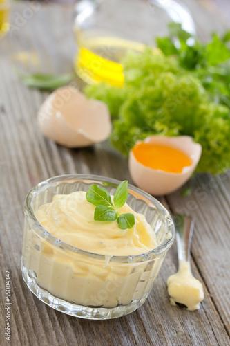 Homemade aioli sauce. - 55004342