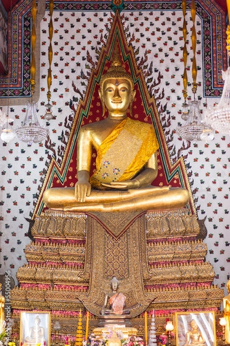 Golden buddha statue at church  of Wat Arun