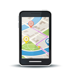 mobile phone with gps map application