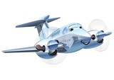 Vector Cartoon Airplane