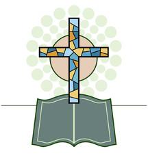 Vector Cross & Bible Religious