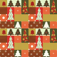 Seamless Christmas background with trees