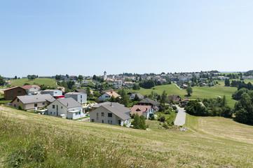Saignelégier, Ortschaft in den Freibergen, Jura, Schweiz
