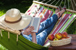 canvas print picture - Relax on hammock