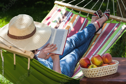 canvas print picture Relax on hammock