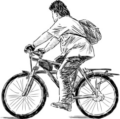 teen on a cycle