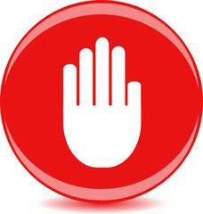 Круглая иконка с изображением руки