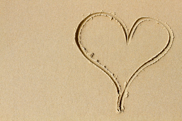 A heart of sand and love