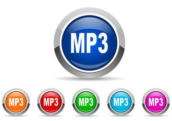 mp3 icon set