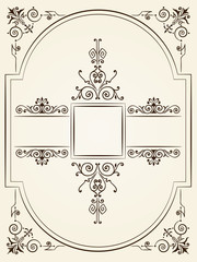 Vintage baroque style ornament design