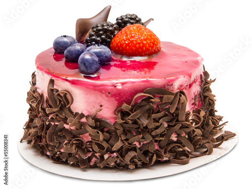 Fotobehang Bakkerij cake isolated on white background