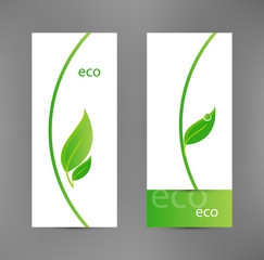 Eco banners templates