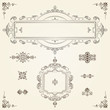 Ornamental vintage rectangular border frames