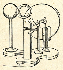 Friction machine - electrostatic generator