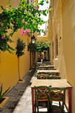 Narrow street in city of Rethymno, Crete, Greece - 55009555