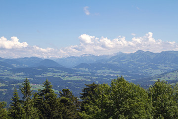 View from the Pfaender near Bregenz in Austria