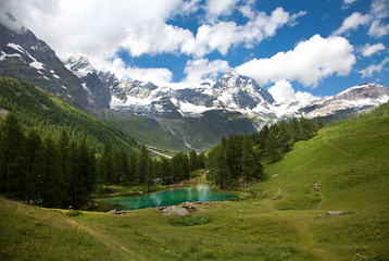 Cervinia, Valle d'Aosta, Italy (Lake blue)