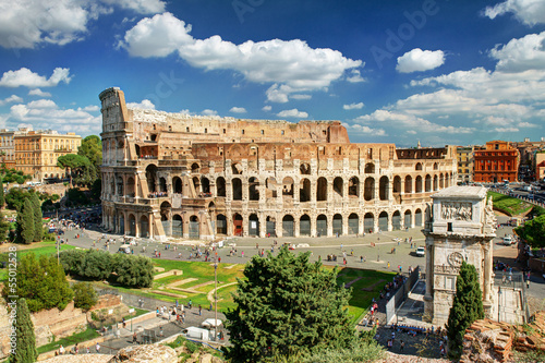 Canvas Rudnes View of the Colosseum in Rome