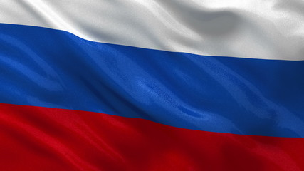 Seamless loop of the Russian flag waving in the wind