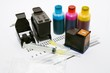 Ink refill set for printer