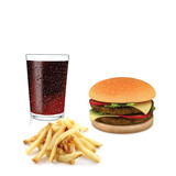 Fastfood - hamburger and french fries