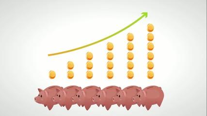 Money arrow chart
