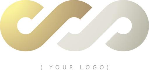 Nodo infinito oro e argento logo