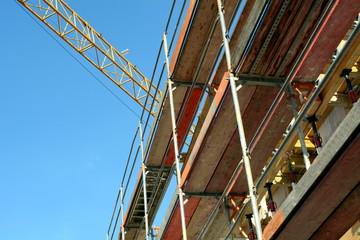 Gerüst bei Fassadenarbeiten