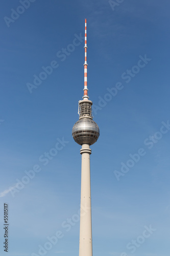 Television tower located at Alexanderplatz in Berlin, Germany