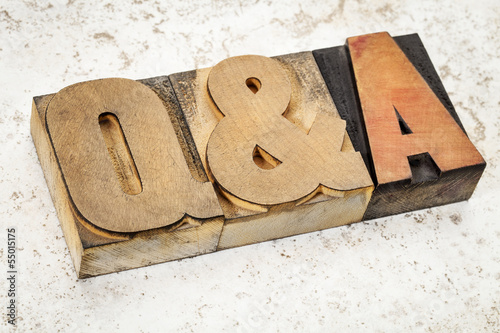 questions and answers in wood type