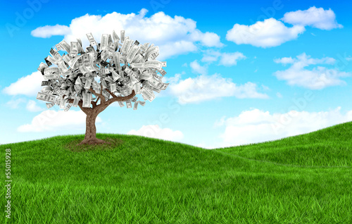 3D money tree