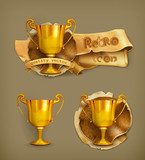 Gold trophy icon