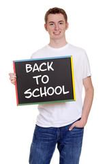 smiling teen boy back to school