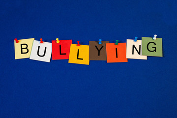 Bullying - sign series for education.