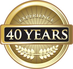 Forty Years Experience Pure Gold Award