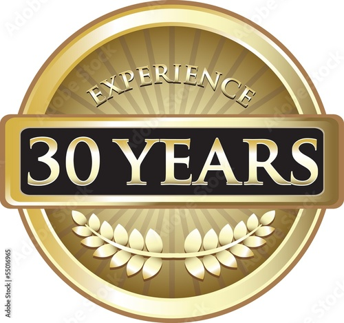 Thirty Years Experience Pure Gold Award