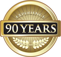 Ninety Years Experience Pure Gold Award