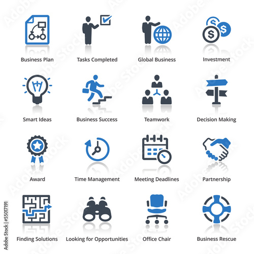 Business Icons Set 3 - Blue Series