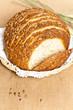 Loaf of fresh baked multigrain bread