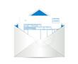 invoice receipt inside mailing envelope