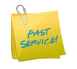 fast service written on a post. illustration