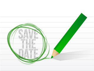save the date written on a notepad paper.